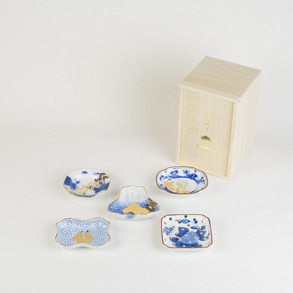 【セット】MAME トラディショナルセット 5枚組 桐箱入/豆皿/amabro