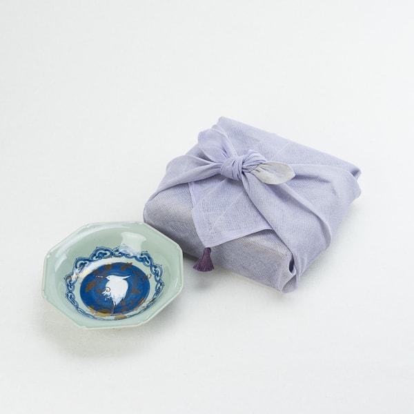 NAMASU 白抜鷺文八角皿 布巾包/中鉢/amabro
