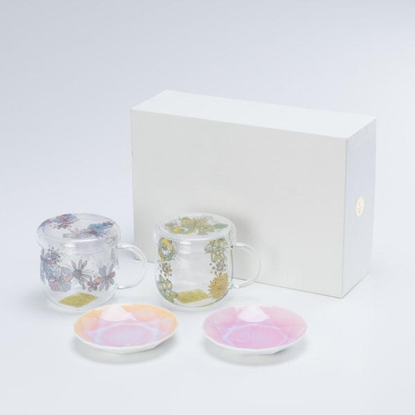 【セット】ティーメイト フラワーペア&Arita Jewel Round 2枚セット 化粧箱入