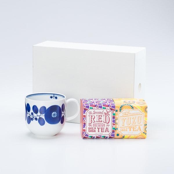 【セット】ブルーム リースマグでいただく うれしの紅茶 RED & YUZU 化粧箱入
