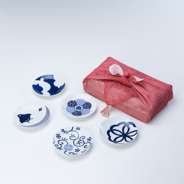 KOMON 豆皿/吉祥紋 5点セット 布巾包/KIHARA