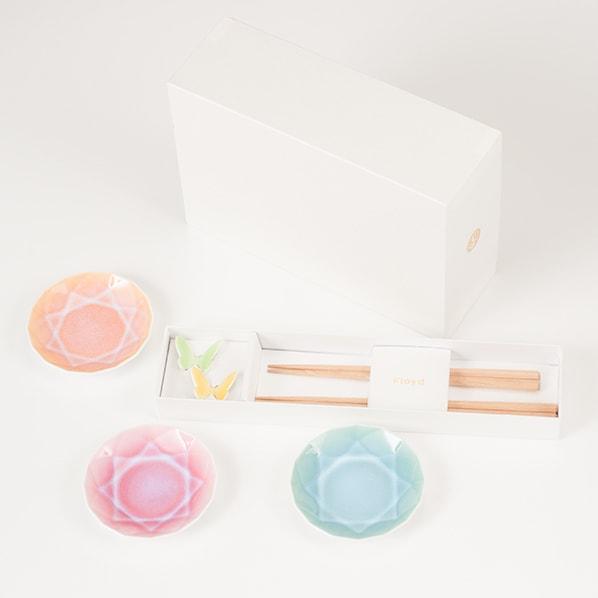 [Set] [Exclusive box] Arita Jewel & Butterfly 2 pairs / Green & Yellow / Floyd