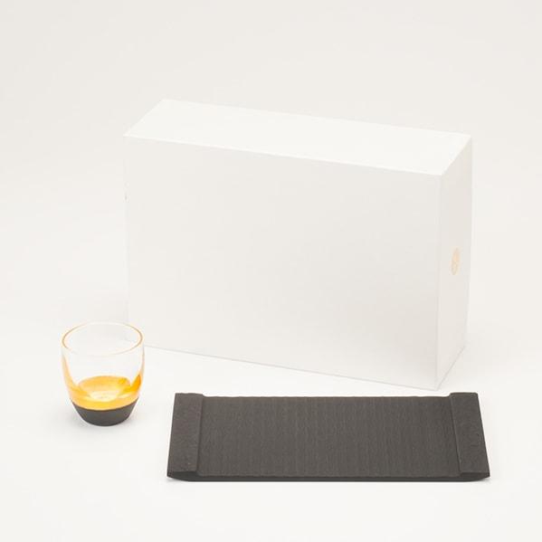 【セット】和モダン晩酌セット 金黒/酒盃 プレート