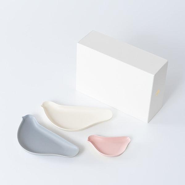 [Set of 3] [Exclusive box] TORIZARA & KOTORIZARA / Bird plate / Café at home set / Floyd