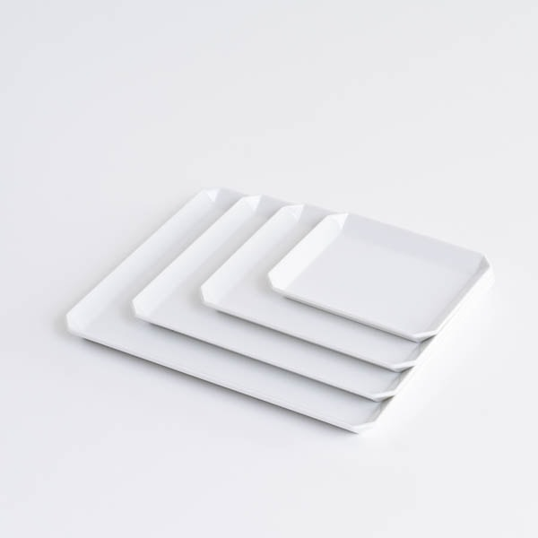 【セット】TYシリーズ Square Plate ホワイト 4枚セット 化粧箱入り/お皿/1616 arita japan