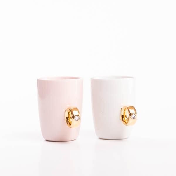 【セット】CUP RINGペア 紅白セット ピンクゴールド&ホワイトゴールド 化粧箱入/マグカップ/Floyd