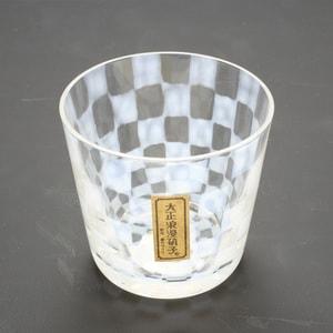 ガラス食器/大正浪漫硝子 そばちょこ 市松/廣田硝子