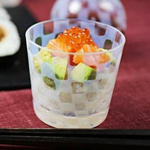 ガラス食器/大正浪漫硝子 そばちょこ 市松/廣田硝子_Image_2