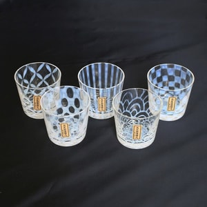 Taisho Roman Glass/ Set of 5 glasses