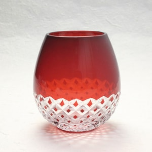 Edo kiriko / Arare / Red / Karai Series / Hirota Glass