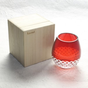 Edo kiriko / Arare / Red / Karai Series / Hirota Glass_Image_3