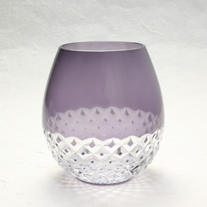 Edo kiriko / Arare / Purple / Karai Series / Hirota Glass