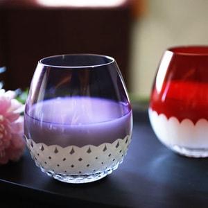 グラス/花蕾 Karai 江戸切子 あられ 紫/廣田硝子_Image_2