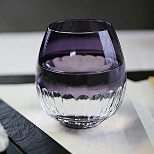 グラス/花蕾 Karai 江戸切子 かまぼこ 紫/廣田硝子_Image_1