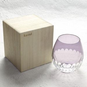 グラス/花蕾 Karai 江戸切子 かまぼこ 紫/廣田硝子_Image_3
