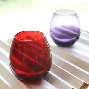 Edo glasses / Red / Karai Series / Hirota Glass_Image_2