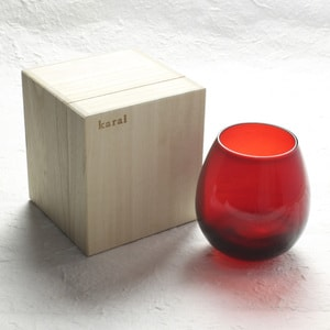 Edo glasses / Red / Karai Series / Hirota Glass_Image_3