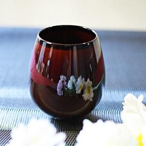 グラス/花蕾 Karai すえはり 漆ブラウン/廣田硝子_Image_1