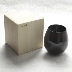 グラス/花蕾 Karai すえはり 漆ブラウン/廣田硝子_Image_3