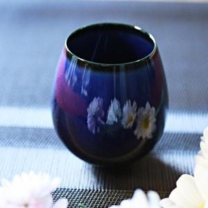 グラス/花蕾 Karai すえはり 茄子紺ブルー/廣田硝子_Image_1