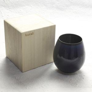 グラス/花蕾 Karai すえはり 茄子紺ブルー/廣田硝子_Image_3