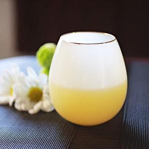 グラス/花蕾 Karai 北海道ミルク 乳白色 金/廣田硝子_Image_1
