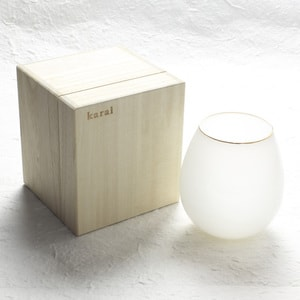 グラス/花蕾 Karai 北海道ミルク 乳白色 金/廣田硝子_Image_3