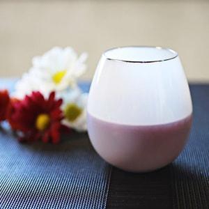 グラス/花蕾 Karai 北海道ミルク 乳白色 プラチナ/廣田硝子_Image_1