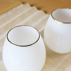グラス/花蕾 Karai 北海道ミルク 乳白色 プラチナ/廣田硝子_Image_2