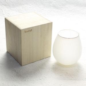グラス/花蕾 Karai 北海道ミルク 乳白色 プラチナ/廣田硝子_Image_3