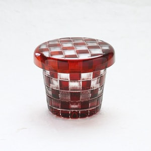 Futa Choko (Small glass with a lid) / Ichimatsu / Hirota glass_Image_1