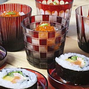Futa Choko (Small glass with a lid) / Ichimatsu / Hirota glass_Image_2
