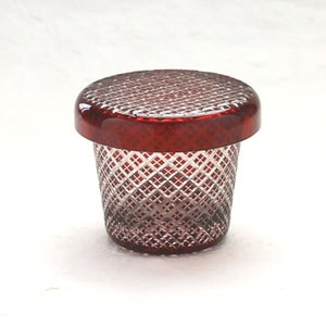 Futa Choko / Small glass with a lid / Niju Yarai  / Hirota Glass