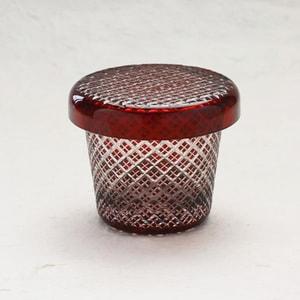 Futa Choko / Small glass with a lid / Niju Yarai  / Hirota Glass_Image_1