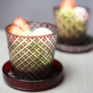 Futa Choko / Small glass with a lid / Niju Yarai  / Hirota Glass_Image_2