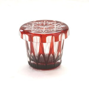 Futa Choko / Small glass with a lid / Tsurara / Hirota Glass