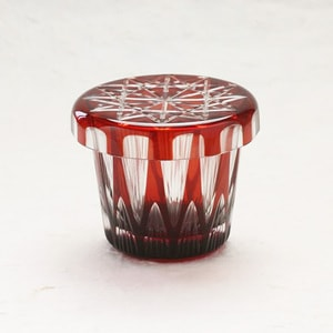 Futa Choko / Small glass with a lid / Tsurara / Hirota Glass_Image_1