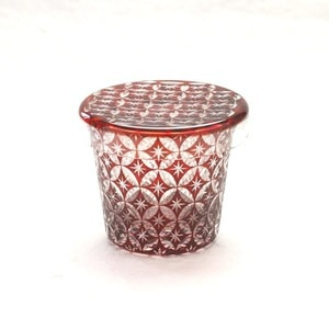 Futa Choko / Small glass with a lid / Shippo  / Hirota Glass
