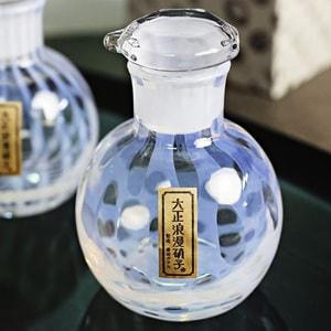 Soy Sauce Cruet/ Mizutama/ Taisho Roman Glass_Image_2