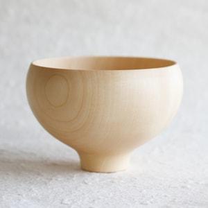 AEKA / Wooden Soup Bowl / Plain / Gato Mikio Store