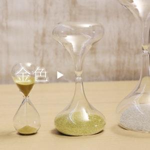 砂時計/スナ式トケイ ラッパ型L 5分間 金色/廣田硝子_Image_1
