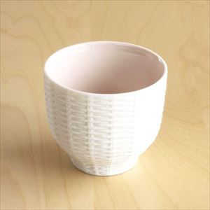 Teacup / Rattan Basket / Pink / Trace Face series / CEMENT PRODUCE DESIGN