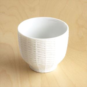 Teacup / Rattan Basket / White / Trace Face series / CEMENT PRODUCE DESIGN