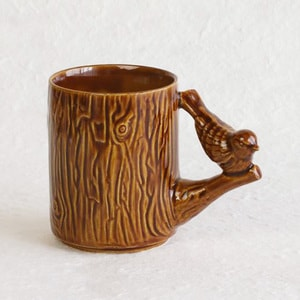 Mug/ Bird/ White/ Perch Cup Series
