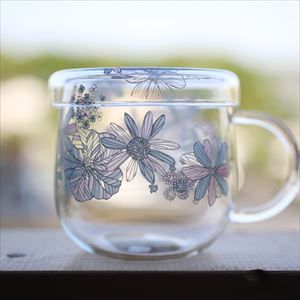 Tea Cup/ Flower Pattern/ Blue/ Tea Mate Series_Image_1