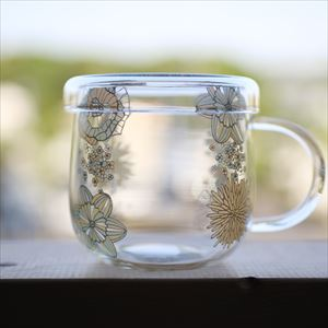 Tea Cup/ Flower Pattern/ Green/ Tea Mate Series_Image_1