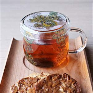 Tea Cup/ Flower Pattern/ Green/ Tea Mate Series_Image_2