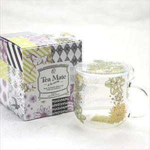 マグカップ/Tea Mate フラワーパターン グリーン 花柄/セメントプロデュースデザイン_Image_3