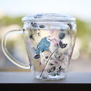 【合わせ買い対象】マグカップ/Tea Mate ガールズデイドリーム 小鳥/セメントプロデュースデザイン_Image_1