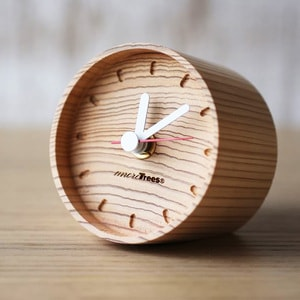 Wooden Table Clock / more Trees design
